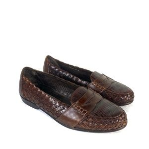 Bragano By Cole Haan Mens Penny Loafers Brown Slip